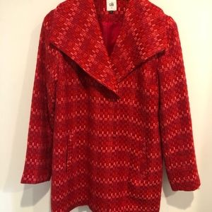 CAbi Sloan Red Tweed Jacket size small